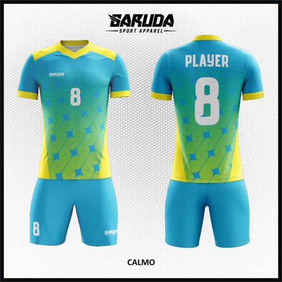 desain baju futsal biru kuning