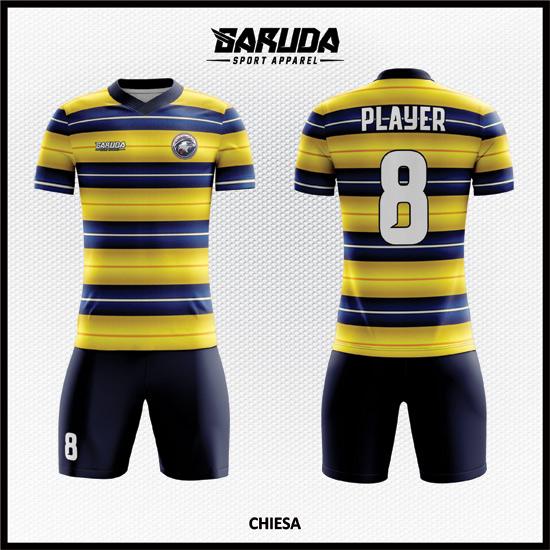 desain baju futsal kuning biru