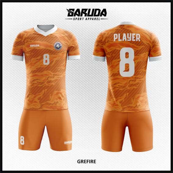 desain baju futsal orange