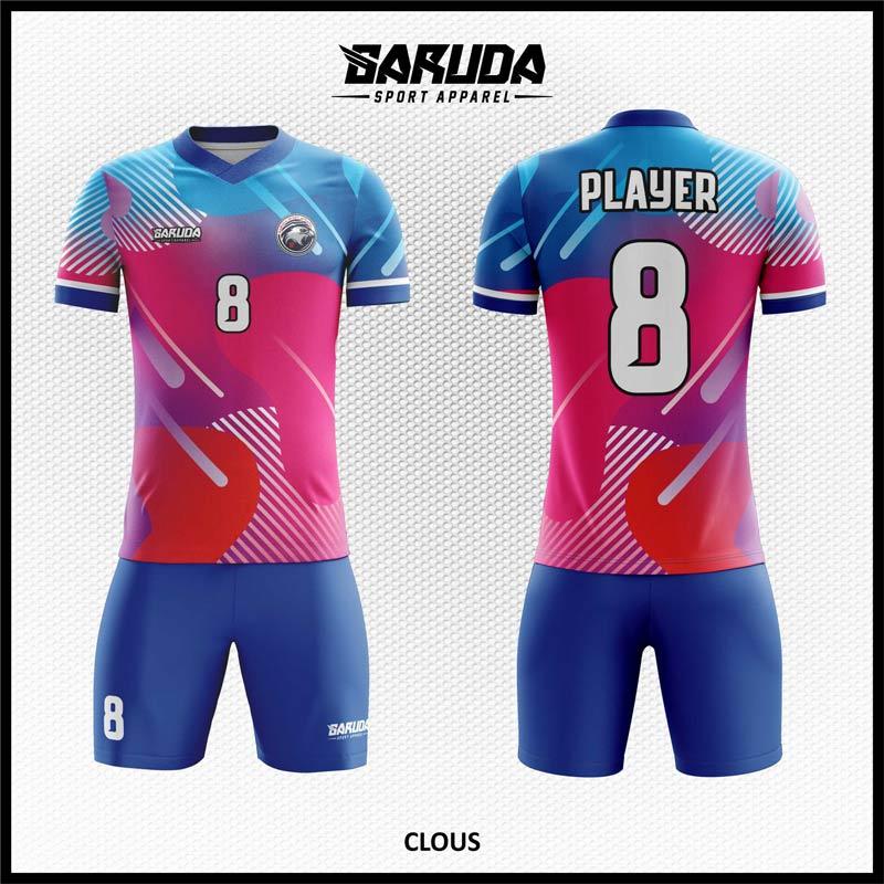 desain jersey futsal pink biru