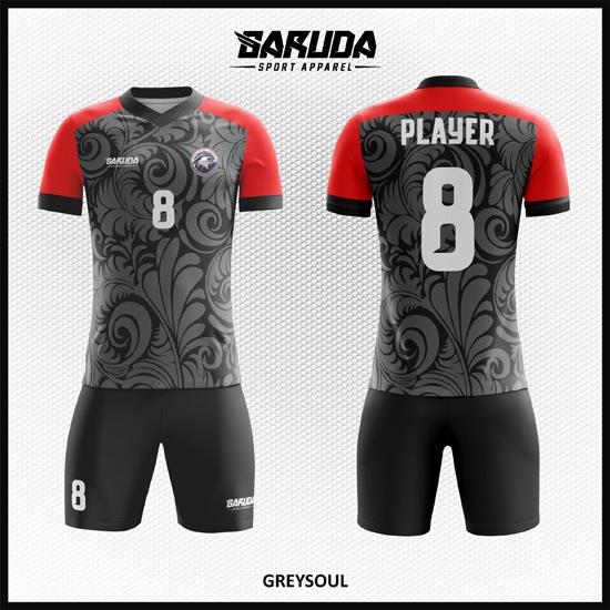 desain kaos futsal batik hitam